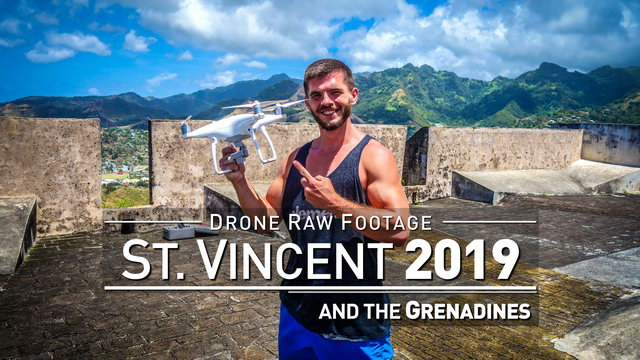 【4K】Drone RAW Footage | SAINT VINCENT AND THE GRENADINES 2019 ..:: Kingstown | UltraHD Stock Video