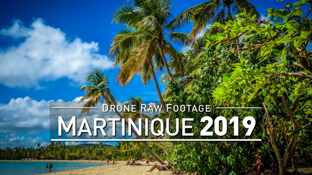 【4K】Drone RAW Footage | MARTINIQUE 2019 ..:: Fort-de-France :: Sainte-Anne | UltraHD Stock Video