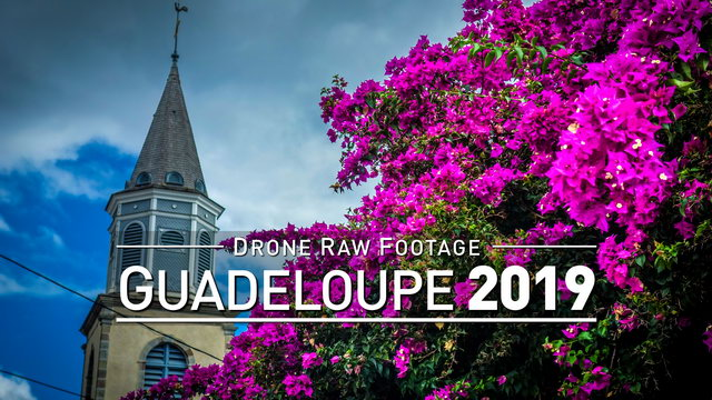 【4K】Drone RAW Footage | GUADELOUPE 2019 ..:: Sainte-Anne :: Vieux-Fort | UltraHD Stock Video