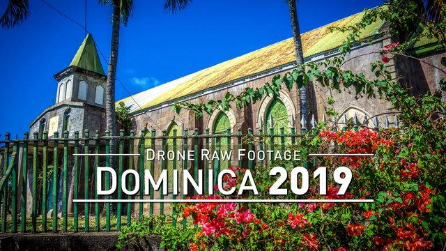 【4K】Drone RAW Footage | DOMINICA 2019 ..:: Roseau :: Marigot :: Pont Casse | UltraHD Stock Video