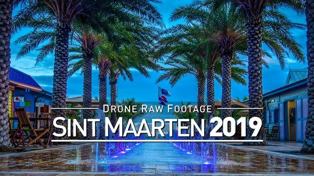 【4K】Drone RAW Footage | SINT MAARTEN 2019 ..:: Philipsburg | UltraHD Stock Video