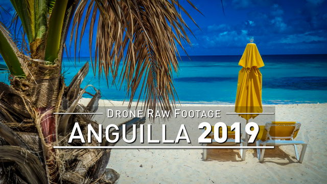 【4K】Drone RAW Footage | ANGUILLA 2019 ..:: Shoal Bay :: Island Harbour | UltraHD Stock Video