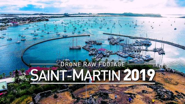 【4K】Drone RAW Footage | SAINT-MARTIN 2019 ..:: Marigot | UltraHD Stock Video
