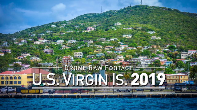 【4K】Drone RAW Footage | AMERICAN VIRGIN ISLANDS 2019 ..:: St. Thomas U.S. | UltraHD Stock Video