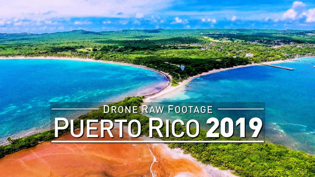 【4K】Drone RAW Footage | PUERTO RICO 2019 ..:: Vieques :: Fajardo | UltraHD Stock Video