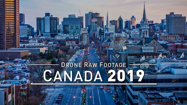 【4K】Drone RAW Footage | CANADA 2019 ..:: Montreal :: Ottawa :: Quebec City | UltraHD Stock Video