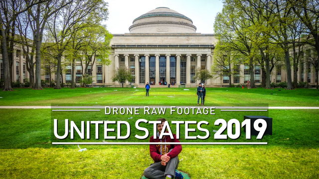 【4K】Drone RAW Footage | UNITED STATES 2019 ..:: Boston | UltraHD Stock Video