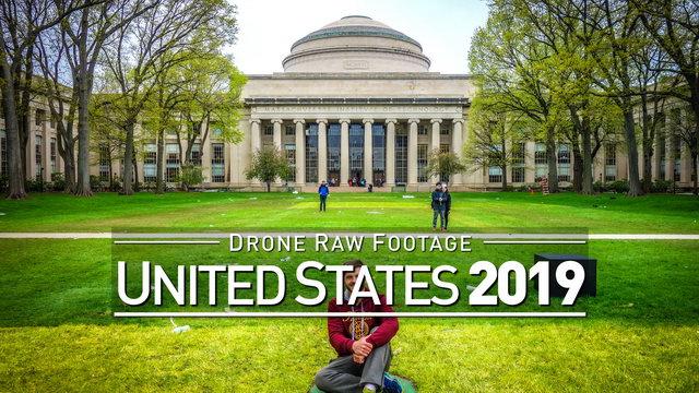 【4K】Drone RAW Footage | UNITED STATES 2019 ..:: Boston | UltraHD Stock Video