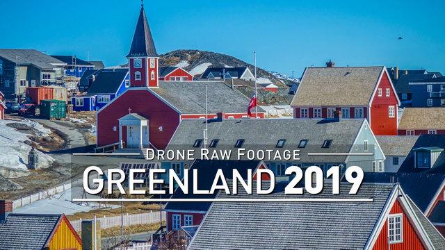 【4K】Drone RAW Footage | GREENLAND 2019 ..:: Nuuk :: Qaqortoq :: Kangerlussuaq | UltraHD Stock Video