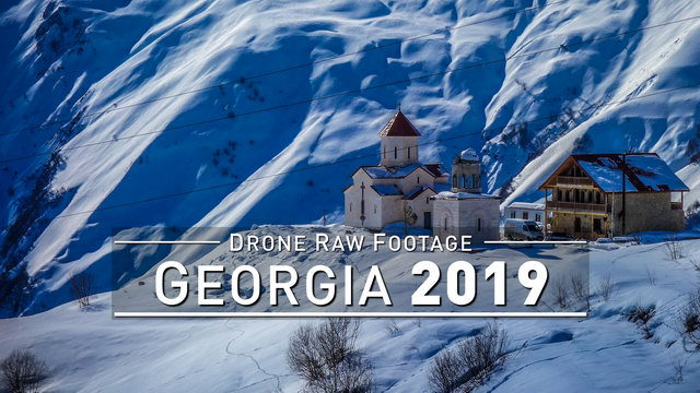 【4K】Drone RAW Footage | GEORGIA 2019 ..:: Tbilisi :: Batumi :: Gudauri | UltraHD Stock Video