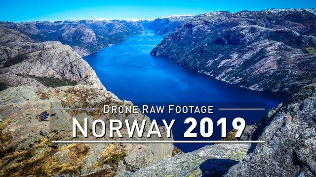 【4K】Drone RAW Footage | NORWAY 2019 ..:: Oslo :: Lofoten :: Tromso :: Bergen | UltraHD Stock Video