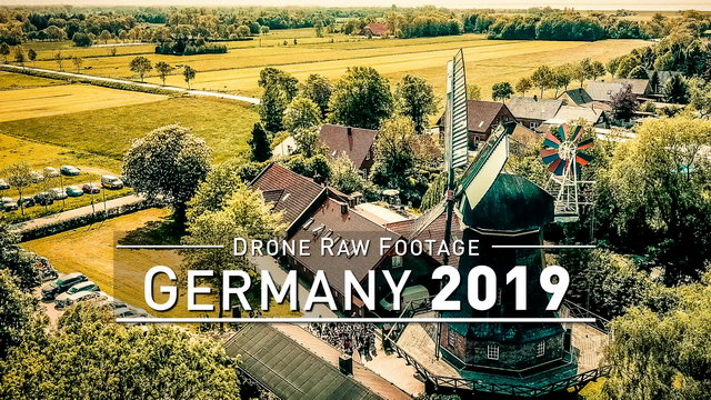 【4K】Drone RAW Footage | GERMANY 2019 ..:: Pfedelbach | UltraHD Stock Video