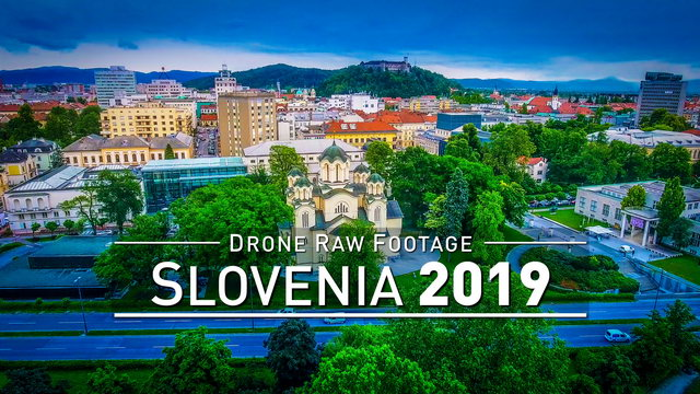 【4K】Drone RAW Footage | SLOVENIA 2019 ..:: Ljubljana | UltraHD Stock Video