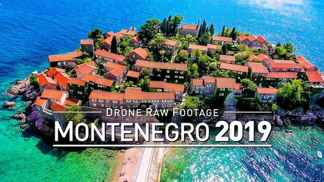 【4K】Drone RAW Footage | MONTENEGRO 2019 ..:: Podgorica :: Budva : Sveti Stefan | UltraHD Stock Video