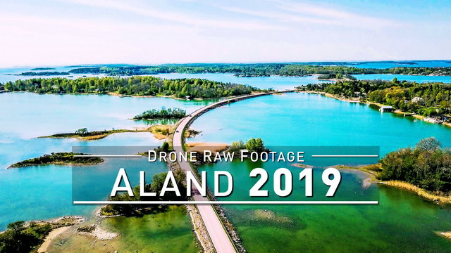 【4K】Drone RAW Footage | ALAND 2019 ..:: Mariehamn | UltraHD Stock Video