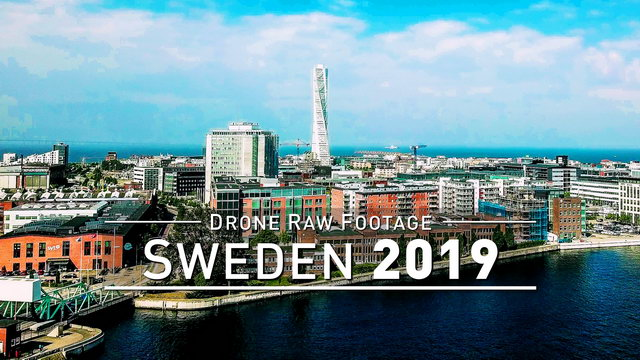 【4K】Drone RAW Footage | SWEDEN 2019 ..:: Malmo | UltraHD Stock Video