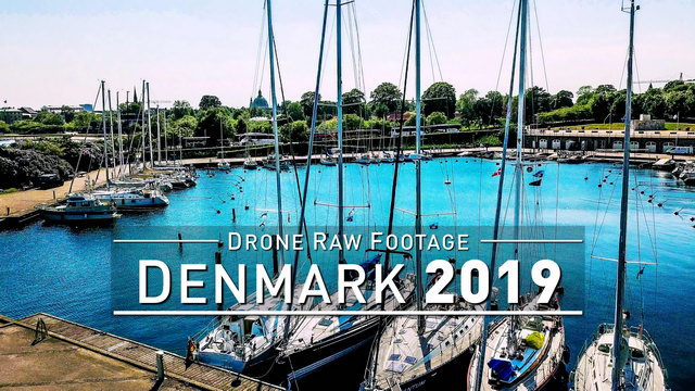 【4K】Drone RAW Footage | DENMARK 2019 ..:: Copenhagen | UltraHD Stock Video
