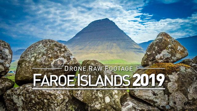 【4K】Drone RAW Footage | FAROE ISLANDS 2019 ..:: Torshavn :: Vager :: Vidareidi | UltraHD Stock Video