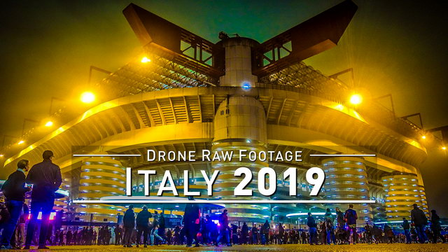 【4K】Drone RAW Footage | ITALY 2019 ..:: Milano | UltraHD Stock Video