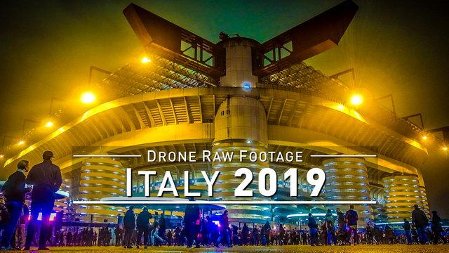 【4K】Drone RAW Footage | ITALY 2019 ..:: Milano | UltraHD Stock Video