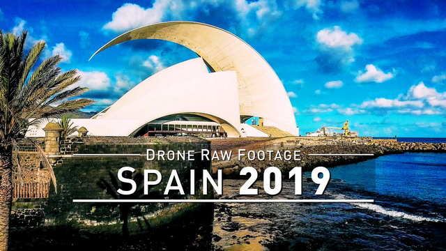 【4K】Drone RAW Footage | SPAIN 2019 ..:: Santa Cruz de Tenerife | UltraHD Stock Video