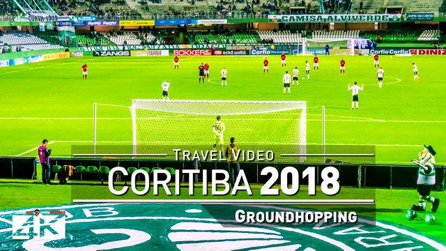 【4K】Groundhopping Footage | CORITIBA x ATLETICO GOIANIENSE 1x0 ..: Estadio Couto Pereira Brazil 2018