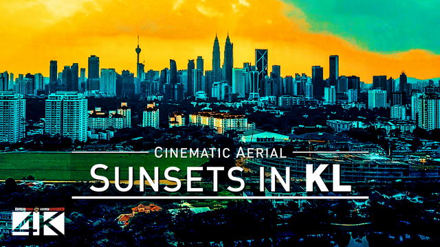 【4K】Drone Footage | KUALA LUMPUR Sunsets 2019 ..:: When The Sun Goes Down In KL
