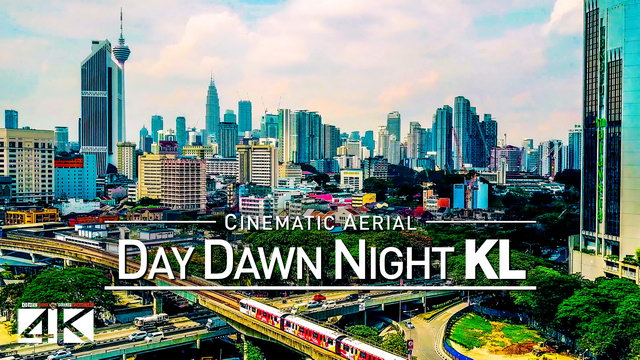 【4K】Drone Footage | KUALA LUMPUR Day Dawn Night 2019 ..:: Very Best Of KL Malaysia