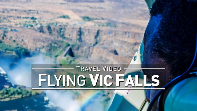 【1080p】Footage | Scenic Helicopter Flight VICTORIA FALLS 2019 ..:: Widest Waterfall in the World!