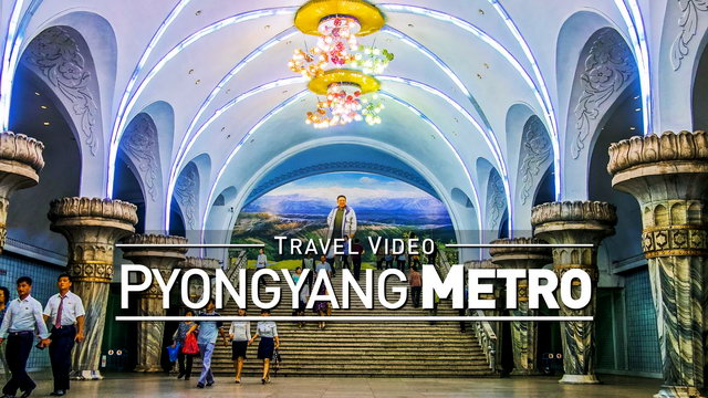 【1080p】Footage | Massive Metro Station in PYONGYANG, NORTH KOREA 2019 ..:: DPRK *TRAVEL VIDEO*