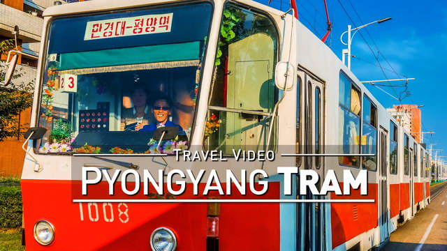 【1080p】Footage | Trams in PYONGYANG (DPRK) 2019 ..:: Tram System @Capital North Korea *TRAVEL VIDEO*