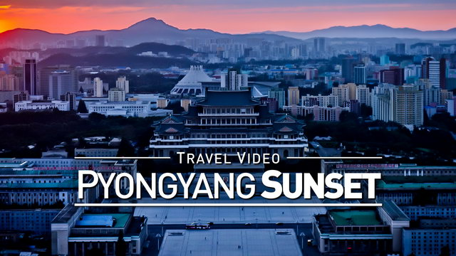 【1080p】Footage | Most Beautiful SUNSET in PYONGYANG (DPRK) 2019 ..: Visit North Korea *TRAVEL VIDEO*