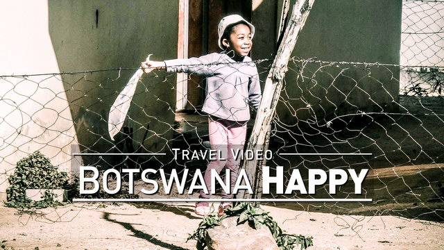 【1080p】Footage | Botswana Kid Playing Happily with a Plastic Bag ..: Seen in Gaborone *TRAVEL VIDEO*
