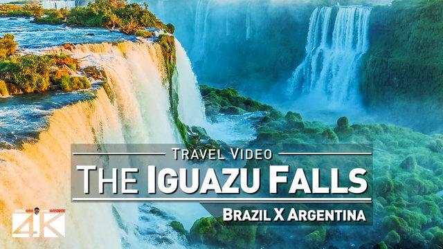 【4K】Footage | Iguazu Falls 2019 | Brazil vs. Argentina ..:: Waterfalls Foz do Iguacu | Puerto Iguazu