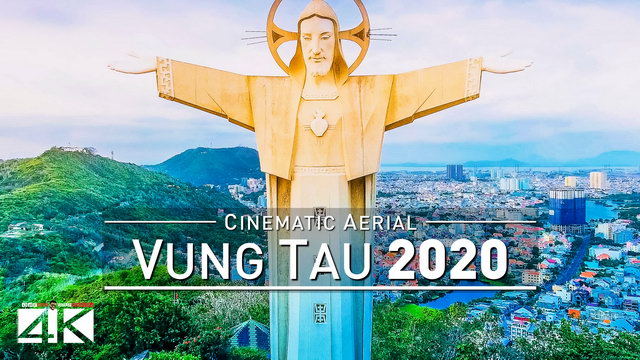 【4K】Drone Footage | Vung Tau - VIETNAM 2019 ..:: Biggest Jesus Christ Statue on Earth | Aerial Video