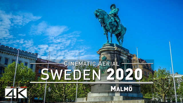 【4K】Drone Footage | Malmö - SWEDEN 2019 ..:: Cinematic Aerial Film | 265