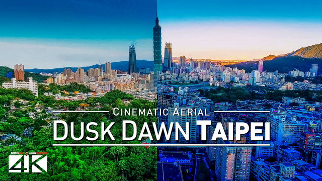 【4K】Drone Footage | TAIPEI - From Dusk Till Dawn ..:: Cinematic Aerial Film | 台北 2019 Taiwan 台湾