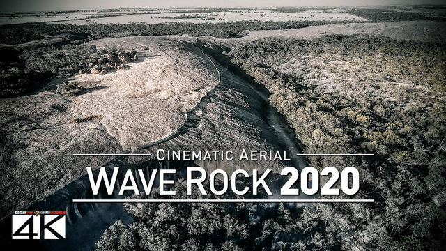 【4K】Drone Footage | Wave Rock - Beauty of Western Australia 2019 ..:: Cinematic Aerial Film | Hyden