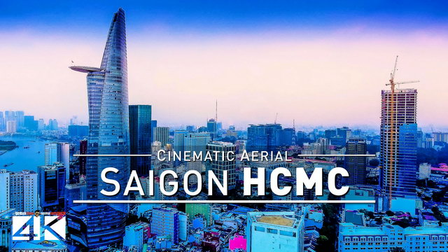 【4K】Drone Footage | Ho Chi Minh City - Saigon Birds View | Vietnam 2019 | Cinematic Aerial HCMC Film