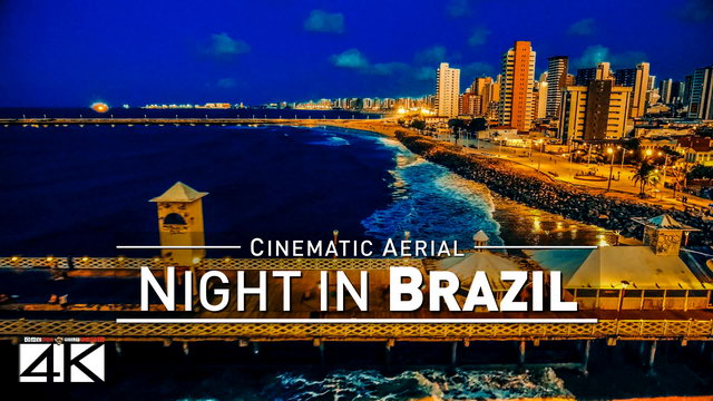 【4K】Drone Footage | Brazil by NIGHT 2019 ..:: Cinematic Aerial Film | Rio Sao Paulo Fortaleza Belo H