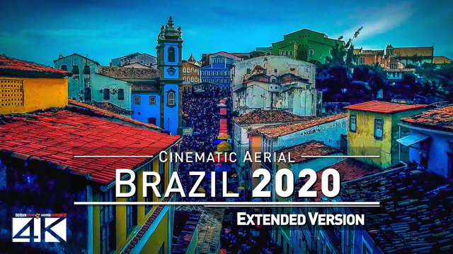 【4K】Drone Footage | The Beauty of Brazil in 2¼ Hours 2019 | Cinematic Aerial Rio Sao Paulo FOR SSA