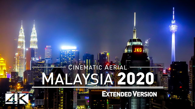 【4K】Drone Footage | The Beauty of Malaysia in 33 Minutes 2019 | Cinematic Aerial KL Melaka Penang