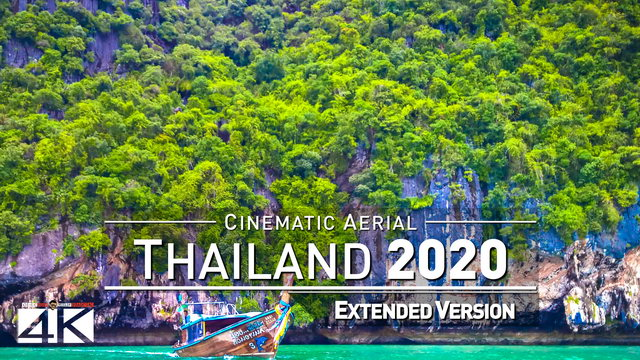 【4K】Drone Footage | The Beauty of Thailand in 22 Minutes 2019 | Cinematic Aerial Bangkok Koh Phangan | 347