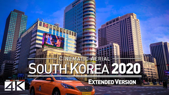 【4K】Drone Footage | The Beauty of South Korea in 26 Minutes 2019 | Cinematic Aerial Seoul Busan 대한민국