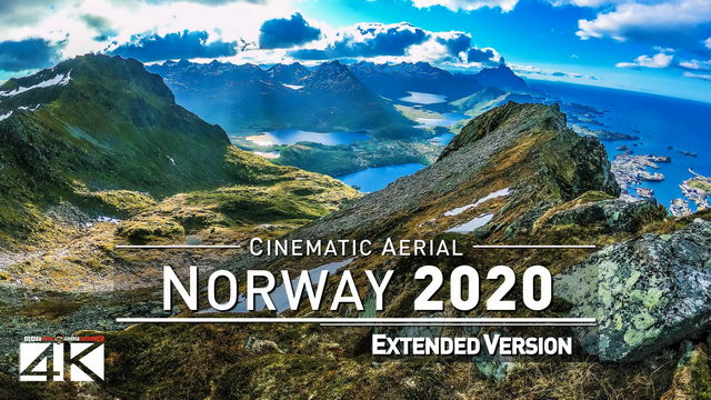【4K】Drone Footage | The Beauty of Norway in 23 Minutes 2019 | Cinematic Aerial Lofoten Oslo Bergen
