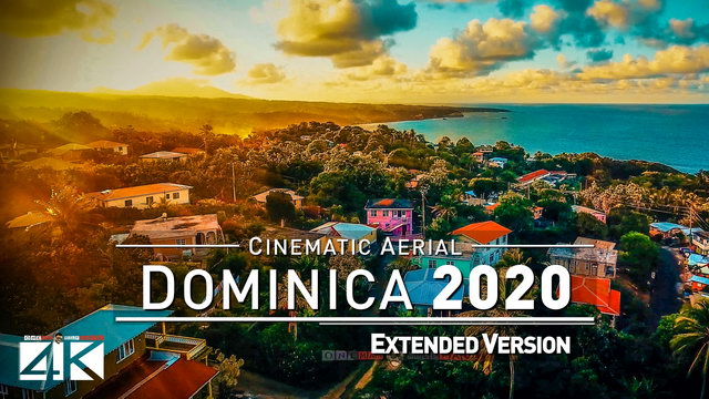 【4K】Drone Footage | The Beauty of Dominica in 9 Minutes 2019 | Cinematic Aerial Roseau Trois Pitons