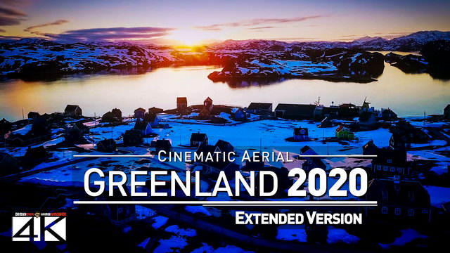 【4K】Drone Footage | The Beauty of Greenland in 12 Minutes 2019 | Cinematic Aerial Film Nuuk Glacier | 361