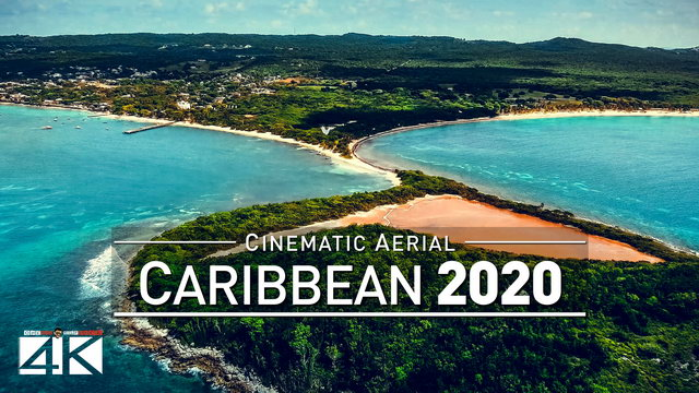 【4K】Drone Footage | The Beauty of The Caribbean in 52 Minutes 2019 | Cinematic Aerial Film