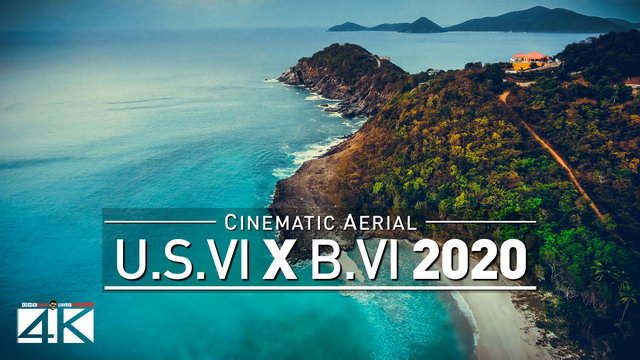 【4K】Drone Footage | The Virgin Islands | British vs. USVI | CARIBBEAN 2019 .:: Cinematic Aerial Film