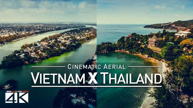 【4K】Drone Footage | Thailand X Vietnam 2019 ..:: Cinematic Aerial | Bangkok Saigon Ko Samui Da Nang